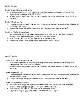 Wonder Questions ch. 8-10
