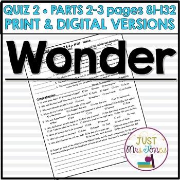 Wonder Quiz 2 (Parts 2 & 3)
