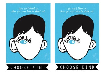 Wonder Quote/Choose Kind T-Shirt Transfer (reversed)