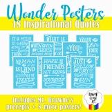 Wonder Quote Printable Posters, PDF includes Mr. Browne's