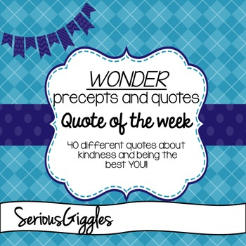 Wonder Quote of the Week Posters