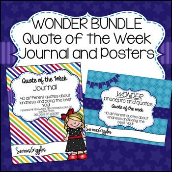 Wonder Quote of the Week Bundle