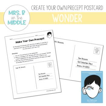 Wonder (R.J. Palacio) - Create Your Own Precept Postcard