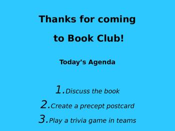 Wonder (R.J. Palacio) Book Club Discussion/Trivia
