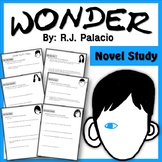 Wonder R.J. Palacio Novel Study Questions- Comprehension,