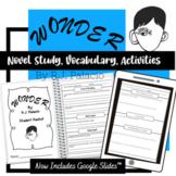 Wonder R.J. Palacio Novel Study (Includes Google Classrooms Distant Learning)