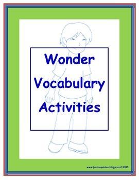 Wonder (R.J. Palacio) Vocabulary Activities