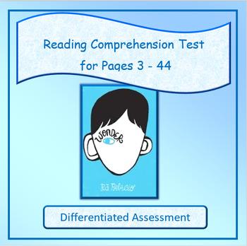 Wonder Reading Comprehension Test Free Sample