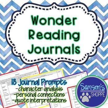 Wonder - Reading Journals
