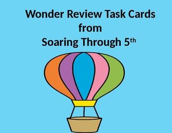 Wonder Review Task Cards