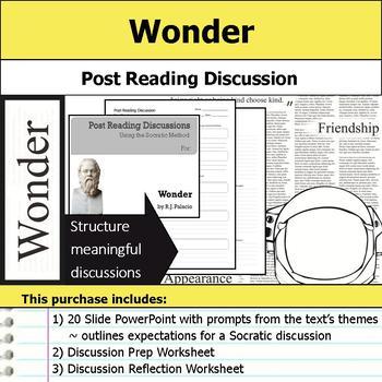 Wonder - Socratic Method - Post Reading Discussions