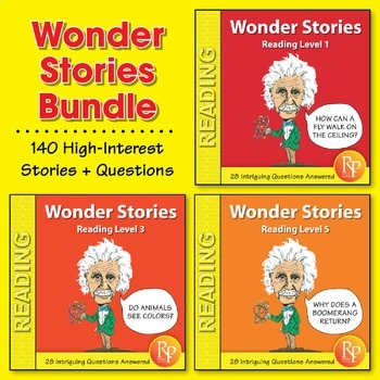 Wonder Stories: Reading Levels 1-5 {Bundle}