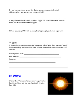 Wonder Study Guide and Discussion Starters