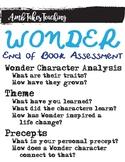 Wonder Summative Assessment (2 Options)