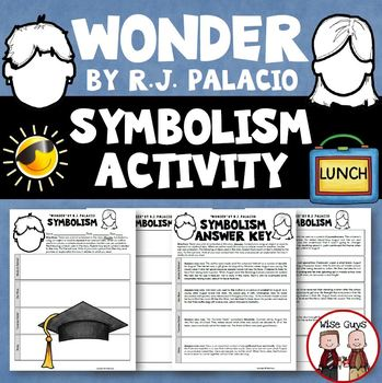 Wonder Novel Study Symbolism Activity
