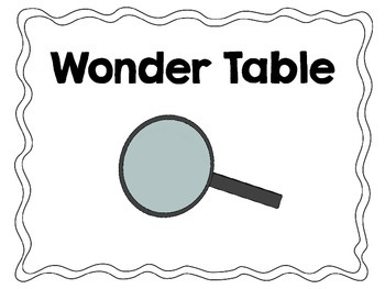 Wonder Table sign