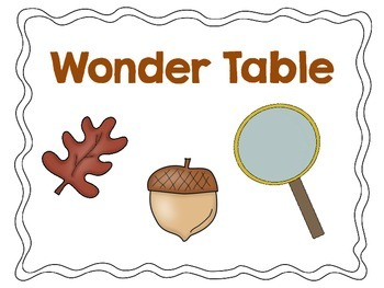 Wonder Table sign