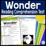 Wonder Test: Wonder Book Quiz w/ Answer Key (4-Page Wonder Assessment)