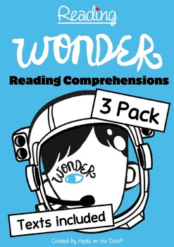 Wonder - Texts Included - Reading Comprehension 3 Pack