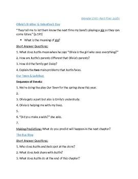 Wonder Unit - Part Five (Justin) Questions