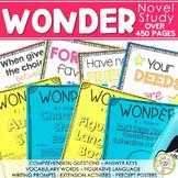 Wonder Novel Study  -  Activities & Posters