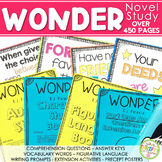 Wonder Novel Study Bundle - Wonder Activities Wonder RJ Pa