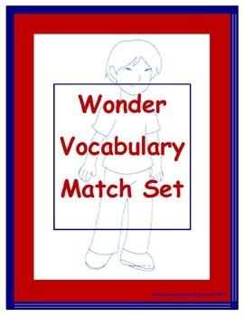 Wonder Vocabulary Match Set