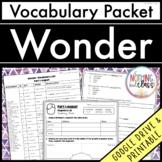 Wonder: Vocabulary Words with Activities