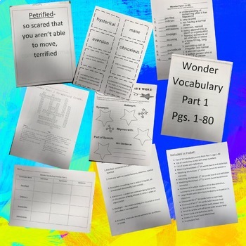 Wonder Vocabulary Packet- Part 1 Pages 1-80