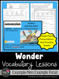 Wonder Vocabulary PowerPoint Presentations and Practice Ac