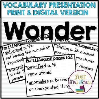 Wonder Vocabulary Presentation