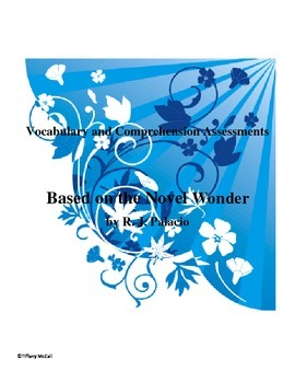 Wonder Vocabulary and Comprehension Tests