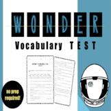Wonder Vocabulary TEST