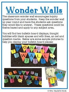 Wonder Wall for Inquiry Based Learning
