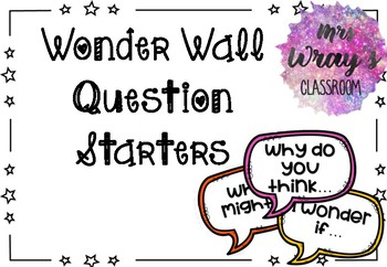Wonder Wall Question Starters