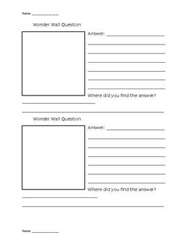 Wonder Wall Research Form: International Baccalaureate