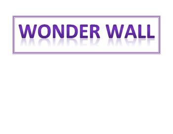Wonder Wall Title