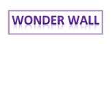 Wonder Wall Title