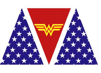 Wonder Woman Alphabet Banner
