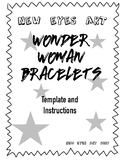 Wonder Woman Bracelets Template NEW Gal Gadot Simple Materials