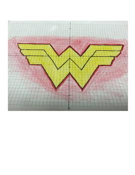 Wonder Woman Coordinate Drawing