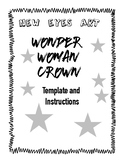 Wonder Woman Crown Template NEW Gal Gadot Simple Materials