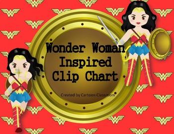 Wonder Woman Inspired Behavior Clip Chart