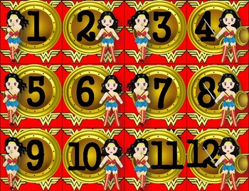 Wonder Woman Inspired Calendar