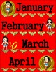 Wonder Woman Inspired Month Signs