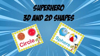 Wonder Woman: Superhero 3D and 2D Shapes