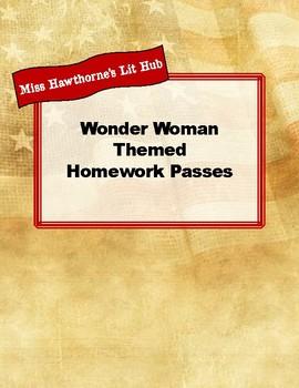 Wonder Woman-Themed Homework Passes