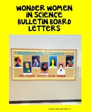 Wonder Women in Science Bulletin Board Letters