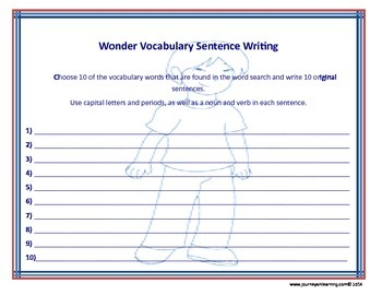 Wonder (R. J. Palacio) Word Searches