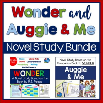 Wonder and Auggie & Me R.J. Palacio Literature BUNDLE